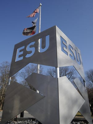 The entrance to the circle at East Stroudsburg University.