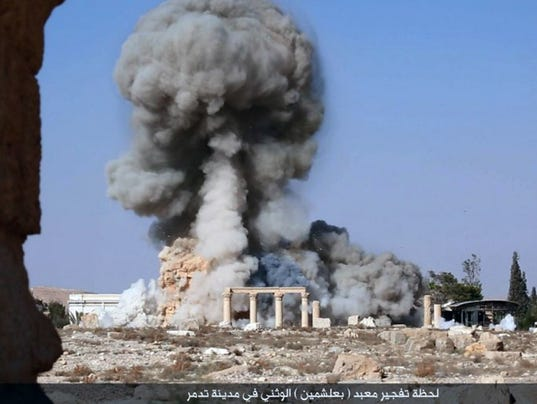 Islamic prisoners blown up with antiquities