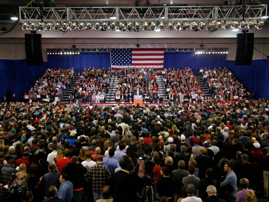 A look at the crowd during Monday's rally.