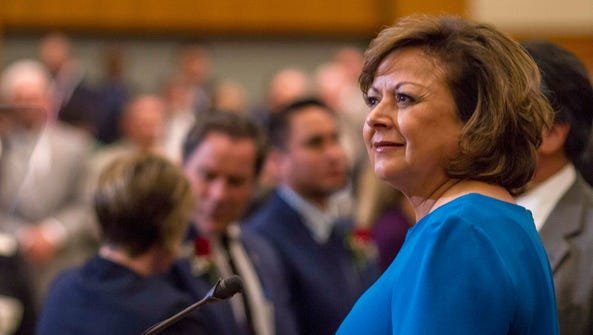 New Mexico Gov. Susana Martinez delivers her State