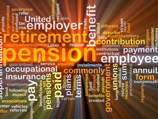 Pension background concept glowing