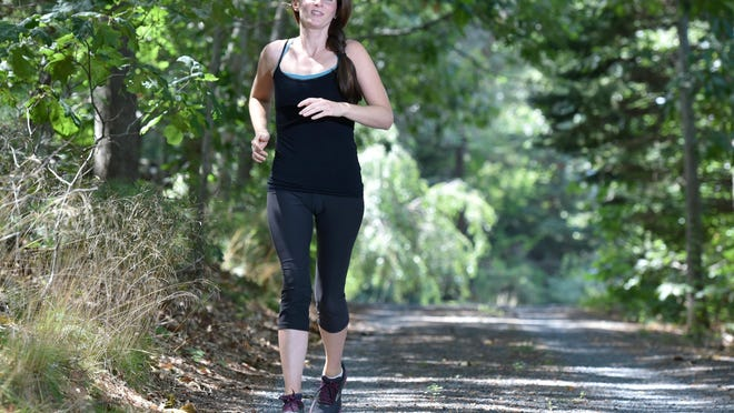 Once she resumed running, Maggie Phelan was taking mostly short jogs, but is now up to about six miles. [Steve Heaslip/Cape Cod Times[