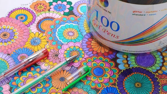 100 colored pens for $15: The perfect adult coloring graduation ...