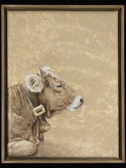 """""""Cattle,"""" painting by Pamela Murphy, part of Exhibit"""