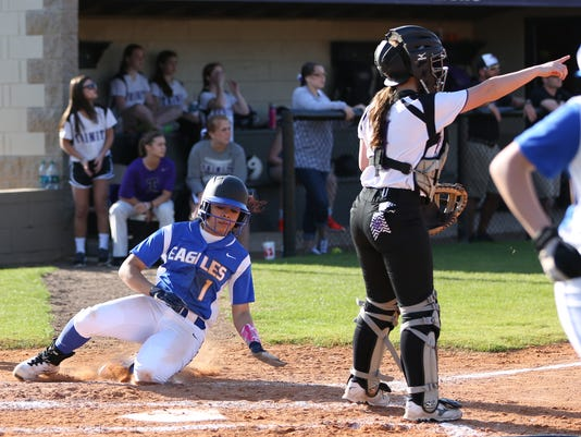 5JC Kacie Lynch slides home Tuesday when JC came to TCA .JPG