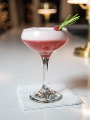 The Rosey Holiday cocktail at Muse at Sentry.
