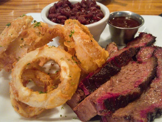 The brisket at Harvey's Diner & Pub is smoked over