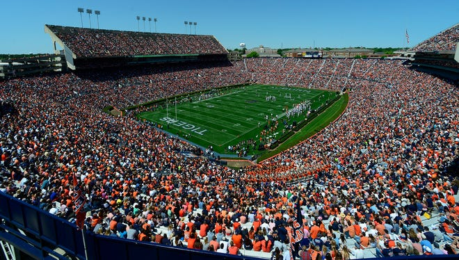 Jordan-Hare Stadium is sold out for Auburn's game with Louisiana Tech.