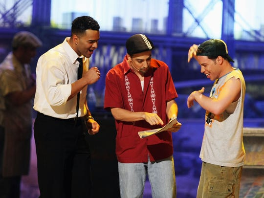 """In the Heights"" creator Lin-Manuel Miranda (center)"