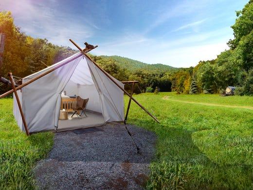 Glamping in Tennessee: Gatlinburg Under Canvas luxury tents