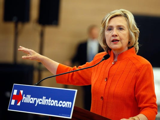 Democratic Candidate For President Hillary Clinton Campaigns In Vegas Area