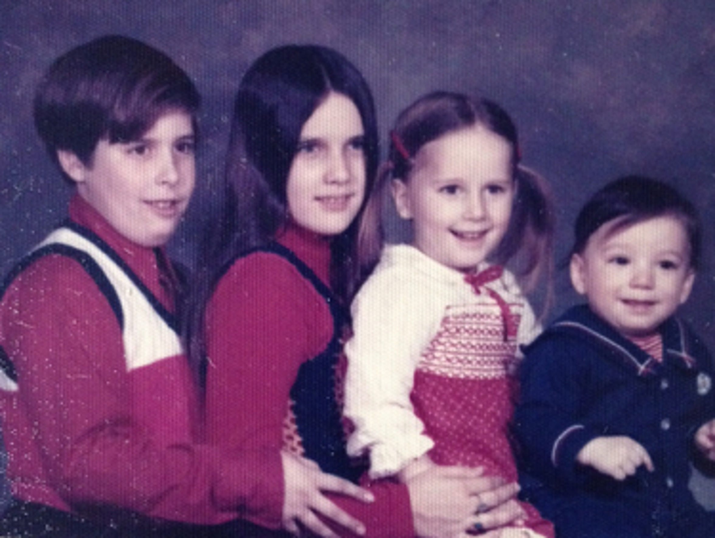 Teresa and siblings (from left to right), Pat, Annie,