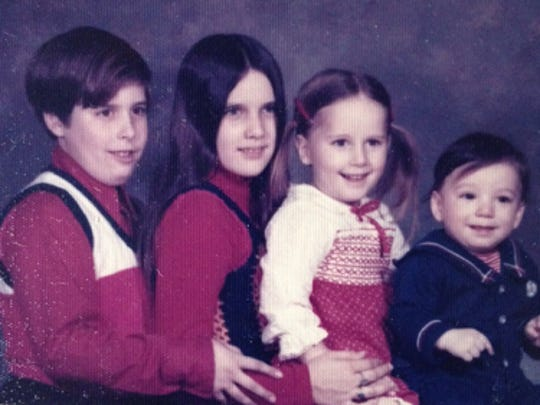 Teresa and siblings (from left to right), Pat, Annie, Teresa and Frank.