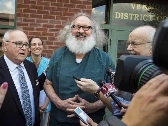 Randy Quaid, center, and Evi Quaid, second from left,