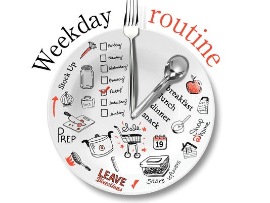 Weekday meal prep graphic