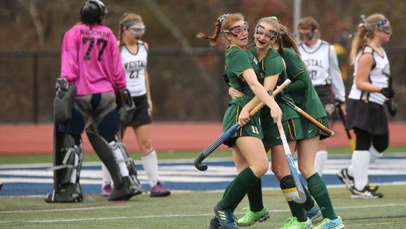 Lakeland's Julianna Cappello (11) celebrates her goal