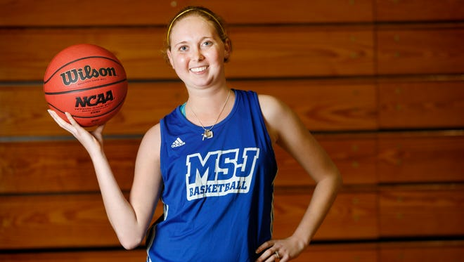 Mt. St. Joseph College sophomore basketball player Lauren Hill of Lawrenceburg, Ind. is photographed at the Mount's gymnasium.