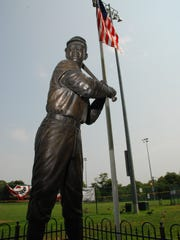 A majestic statue stands tall at Paterson's Larry Doby