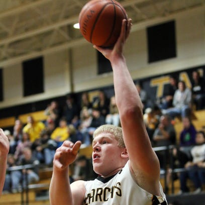 Paint Valley's Dylan Swingle puts up a shot against