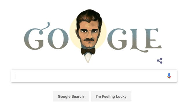 A Google Doodle in honor of actor Omar Sharif's 86th birthday.