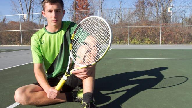 Tennis player of the year, Howell High School's Matt Wenzel.