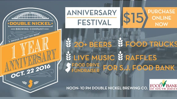 A poster promotes the Double Nickel anniversary bash.