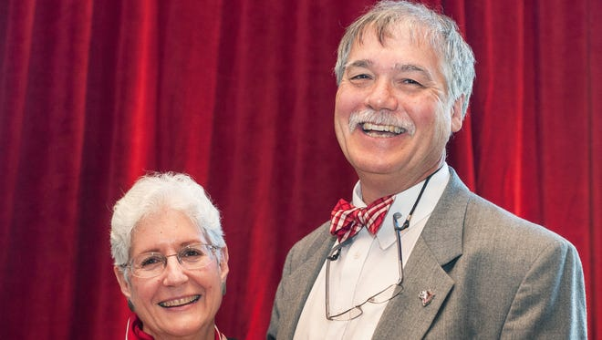 Indiana University East Chancellor Kathryn Cruz-Uribe and Professor of History Eugene Cruz-Uribe