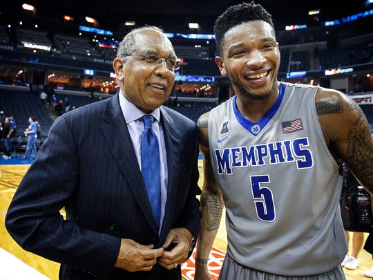 University of Memphis head coach Tubby Smith and guard