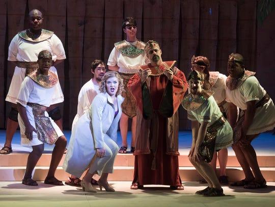 The cast of the Pensacola Little Theatre's production