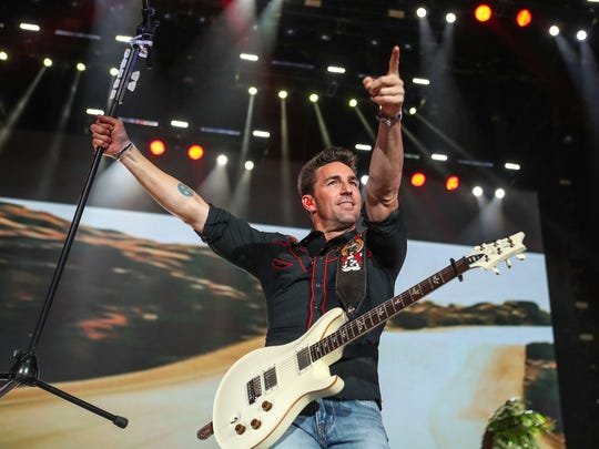 Jake Owen performs at the Stagecoach Country Music