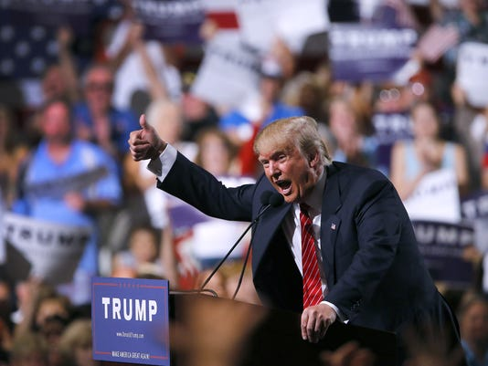 Donald Trump speaks in Phoenix