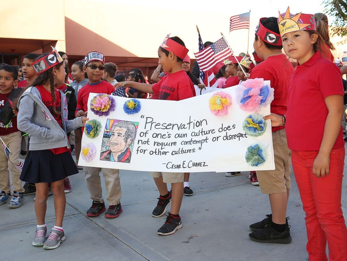 Students from Cesar Chavez Elementary in Coachella