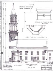 A Works Project Administration study of the First Unitarian Universalist Society meetinghouse from the 1930s.