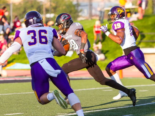 Southern Utah wide receiver Bryan Beckon (88) catches