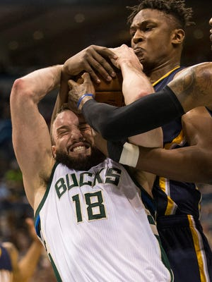 Bucks center Miles Plumlee signed a big deal in the off-season.