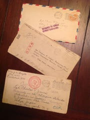 These letters are among those sent to Charlie James while he was a POW in WWII. They were returned to his wife Lucille James.
