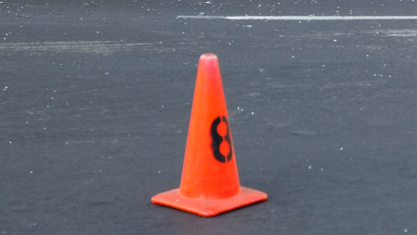 This is real traffic cone. Paul Baxter of England inhaled