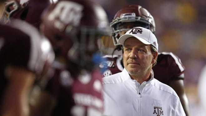 "Texas A&M head coach Jimbo Fisher sees a windfall for SEC with the cancellation of games by the Big Ten and Pac-12. ""You're the only game in town. So there's the publicity part of that,"" Fisher said."