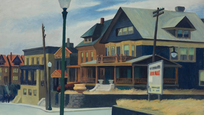 "This undated photo provided by Christie's shows Edward Hopper's painting, ""East Wind Over Weehawken."""