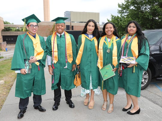 Ramapo High School's graduation ceremony at Rockland