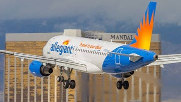 Allegiant Air begins its service to San Diego and Las Vegas Friday.