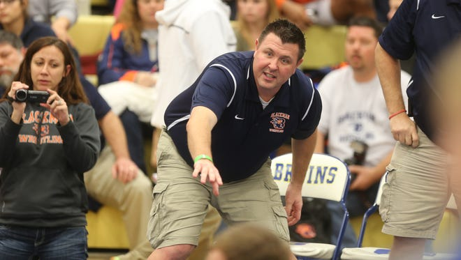 Blackman coach Ronnie Bray has led his Blaze to the Region 5 duals championship and a trip to the state duals meet next weekend.