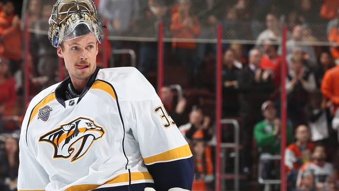 Goalie Pekka Rinne is expected to start for Nashville.