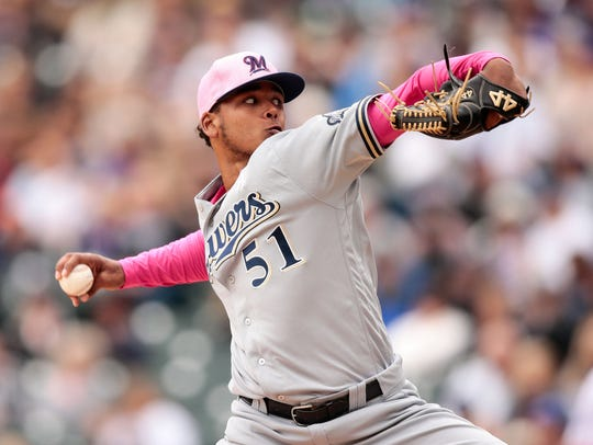 Freddy Peralta set a new team strikeout record for