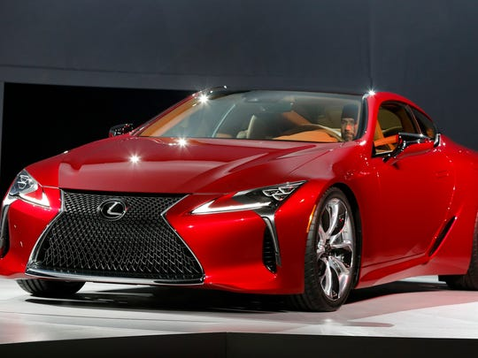 The Lexus LC500 debuts at the North American International Auto Show in Detroit, Monday, Jan. 11, 2016.