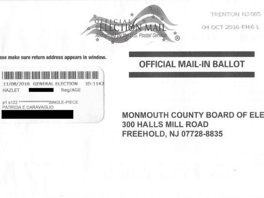 Monmouth vote-by-mail ballots being returned to voters