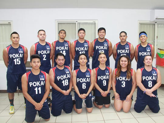 The POKAI menÕs volleyball team is scheduled to leave for the Philippines for a tournament. The team includes, from left: (front row) Allen Camacho, Robert Miyasaki, Zakhary Zacarias, Zhedryk Zacarias, Cara Tajalle and Joel Alerta; (back row) Aaron Blaz, Vicente Flores, Ryan Querimit, Michael Herreros, Brendyn Padayao, Steven Flores and Kevin Movida. Not present for photo: Zachary Tedtaotao, Albert Duenas and Ramon Babauta. Alden Bautista is the team's coach.