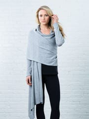 A wrap sweater from crane & lion ($120).