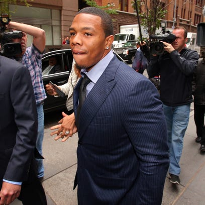 Former Ravens running back Ray Rice appeared in New York for his appeal hearing in early November.