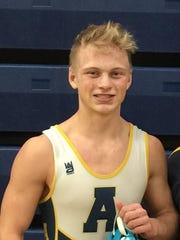Algonac High School wrestler Mark Langewicz